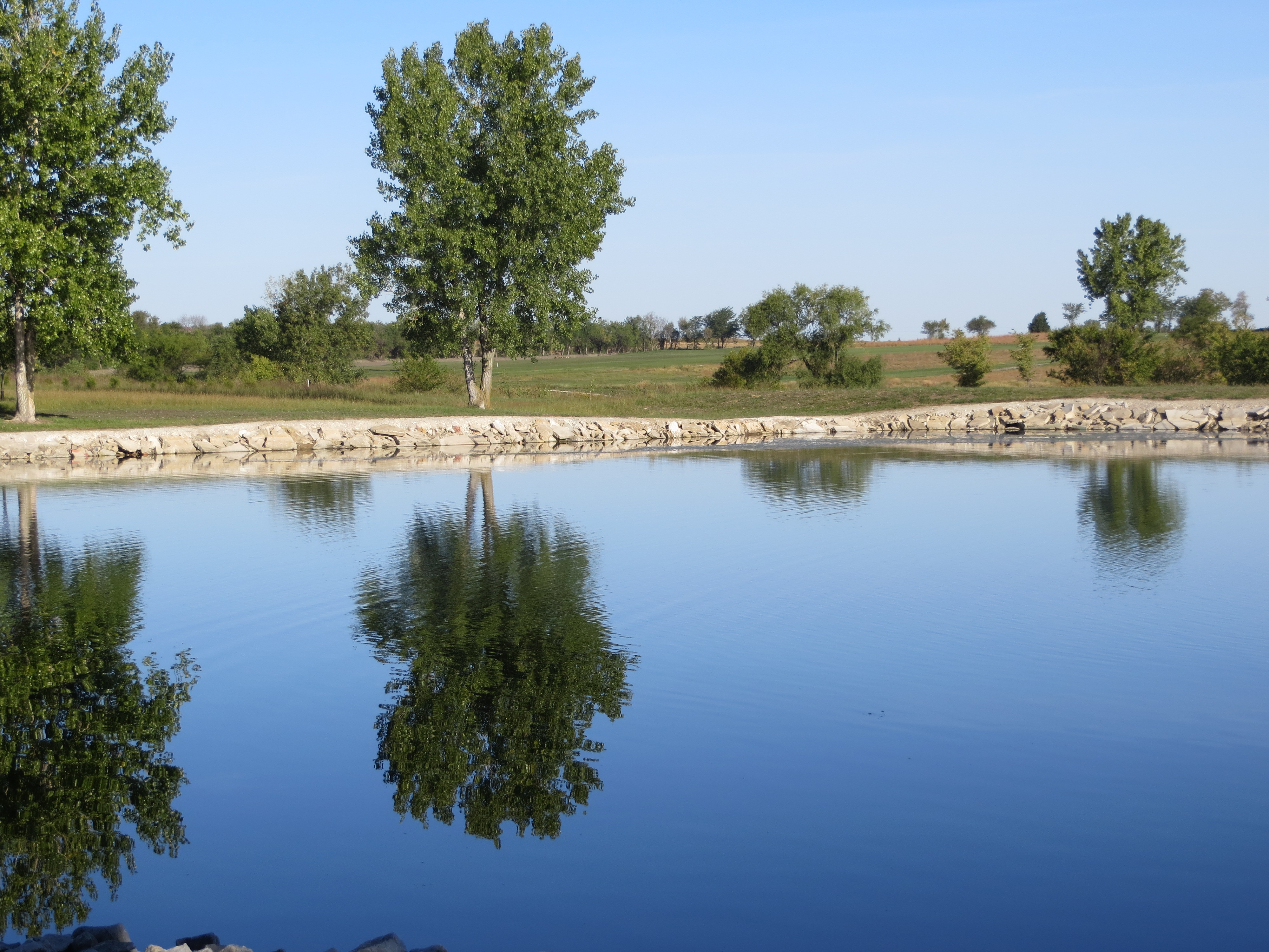 The Small Pond At Stallbaumer RV Park In Seneca Kansas Where Pepper And I Spent A Quiet Night Photo By Pat Bean