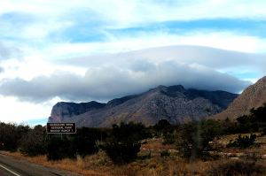 The Guadalupe Mountains -- Photo by Pat Bean