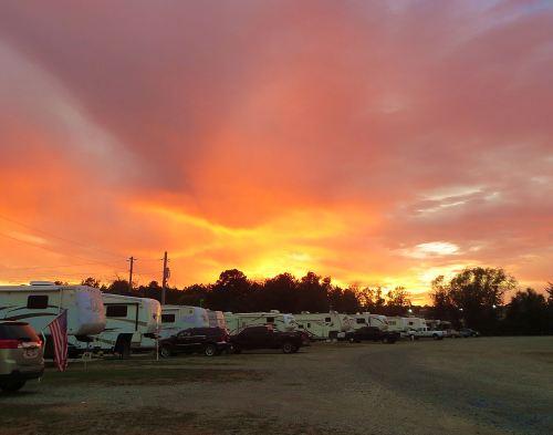 last sunset on the road