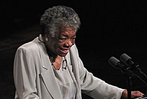 Maya Angelou speaking in 2008.
