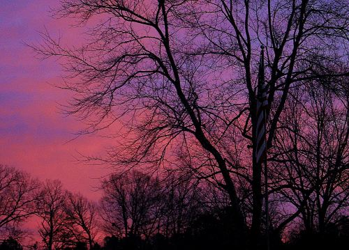An American sunrise starts the day. -- Photo by Pat Bean