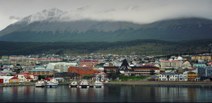 My armchair travels today took me to Ushuaia, where I took a hike on the Martial Glacier. -- Wikipedia photo
