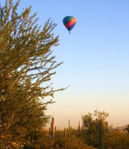 Balloons are a familiar sight over Tucson. -- Photo by Pat Bean