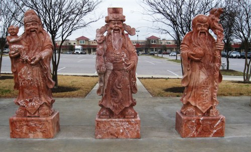 Clearly these figures located at the Chinatown Center in Austin, Texas. -- Photo by Pat Bean