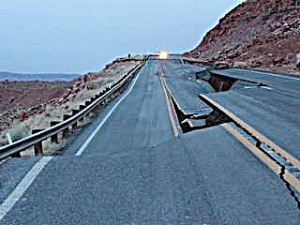 And this is why I had to detour. -- Arizona Highway Photo