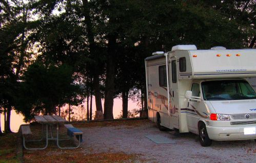 Gypsy Lee by Lake Frank Jackson in Alabama at sunset. -- Photo by Pat Bean