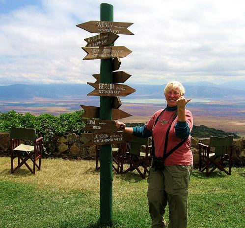 Even when I have a view of Tanzania's  Ngorongoro Crater. I'm thinking about my next travel adventure. -- Photo by Kim Perrin