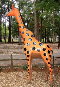 And would a giraffe feel rejected if it looked different from the rest of its kind? OK, so I'm being silly. Reject me. See if I care. == Photo by Pat Bean