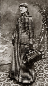 Nellie Bly as she began her record-setting 1889 around-the-world trip. -- Wikimedia photo