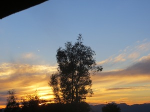 Desert sunsets from my front balcony now seem like part of my home. -- Photo by Pat Bean