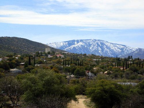 Mount Lemmon from the Catalina Foothills. -- Wikimedia photo