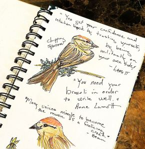 A page from my sketchbook, which I hope to use more during 2014.