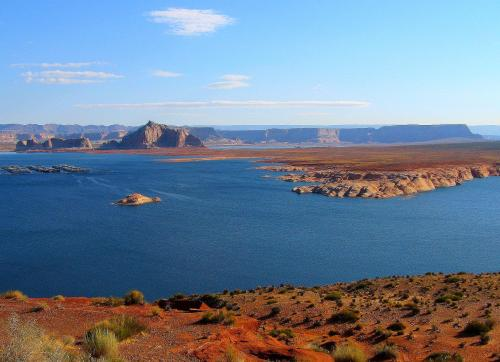 "Lake Powell, the setting for Nevada Barr's ""The Rope,"" and one of my favorite places. -- Photo by Pat Bean."