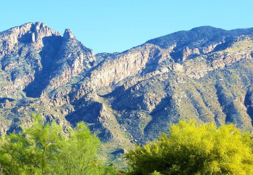 The view of the Catalina Mountains from my bedroom balcony. -- Photo by Pat Bean