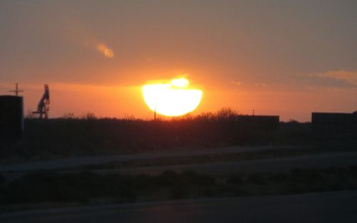 I was driving across West Texas before dawn last month, when the sun began to rise. I stopped on the side of the road to capture it. I drove on with renewed energy and a heart full of thankfulness. -- Photo by Pat Bean