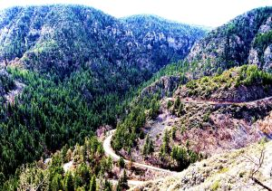 Oak Creek Canyon, which follows the Mongollom Rim between Flagstaff and Sedona, Arizonia. -- Photo by Pat Bean