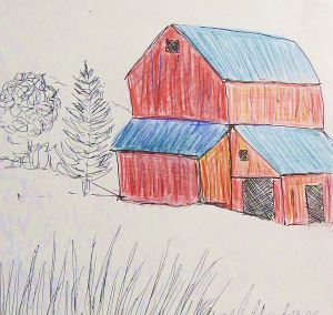 Quick sketch of a barn