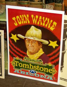 While my Lewis' wife has a thing about Wyatt Earp, my other daughter-in-law and I share a fondness for John Wayne, especially his performance in Hatari. It's one of our favorite movies. -- Photo by Pat Bean