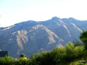 The Catalina Mountains from my bedroom balcony. -- Photo by Pat Bean