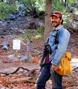 My son Lewis near the start of the trail. -- Photo by Pat Bean