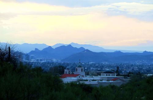 The Present: The view looking out over Tucson from my third-floor apartment. -- Photo by Pat Bean
