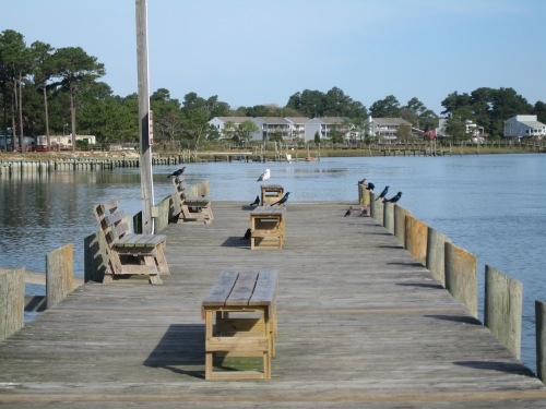 A scene from my past: This pier is located on Chincoteague Island in Virginia, and I sat on it in 2006 and watched birds.  --  Photo by Pat Bean