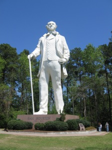 Sam Houston played a prominent roll in early Texas history, and so like most things in Texas, here he is -- larger than life. -- Photo by Pat Bean