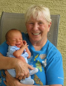 Me and Junior, my first grandchild, five years ago.