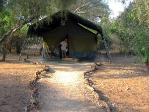 Our tent in Pornini Camp in Kenya. -- Photo by Pat Bean