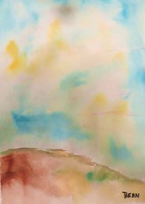 Another of my watercolor sky exercises. -- Art by Pat Bean