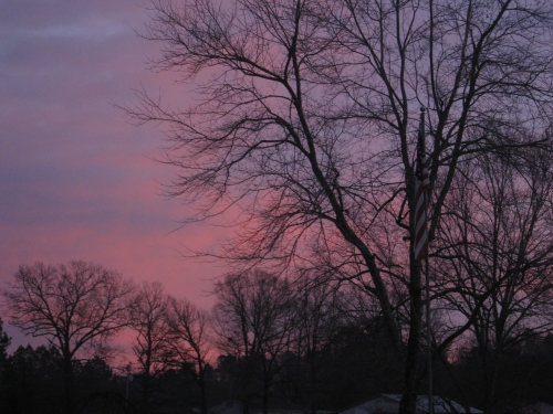 There's something about the dawn of a new day that gives my glasses a rose-colored hue. -- Photo by Pat Bean