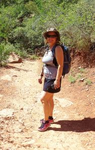 My friend Kim near the start of the hike. -- Photo by Pat Bean