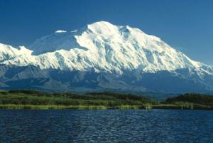 And this mountain, the tallest in North America, has two names: Denali and Mount McKinley.-- Wikimedia photo