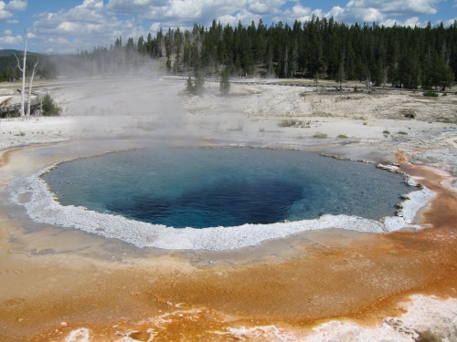 A thermal pool on the Morning Glory Trail in Yellowstone, which was on Budget Magazine's list of most beautiful sites.