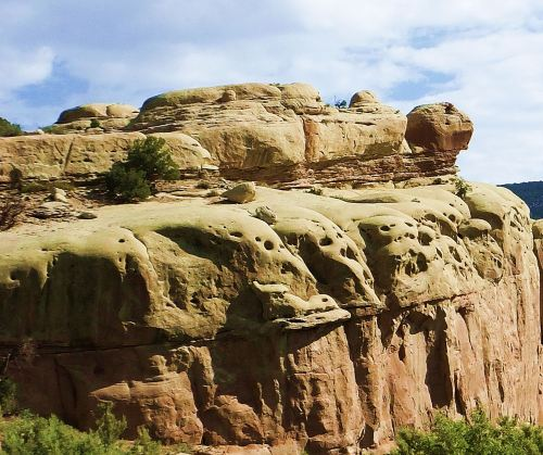 Turtle Rock at Dinosaur National Monument in Utah.
