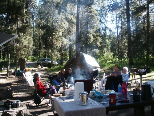 Everything tastes good when you're camping beside the Snake River in Wyoming. --Photo by Kim Perin.