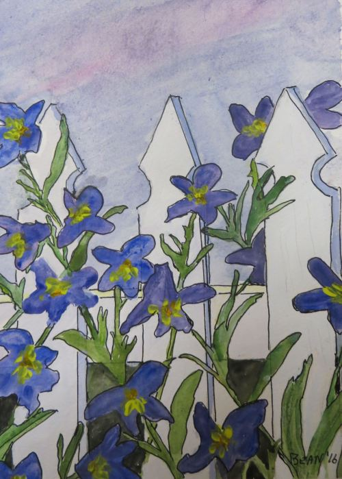 Most recent watercolor and pen painting. -- By Pat Bean