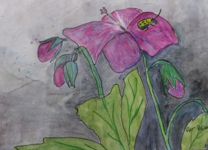 The painting before that. I'm guess I'm in a flowery mood.-- By Pat Bean