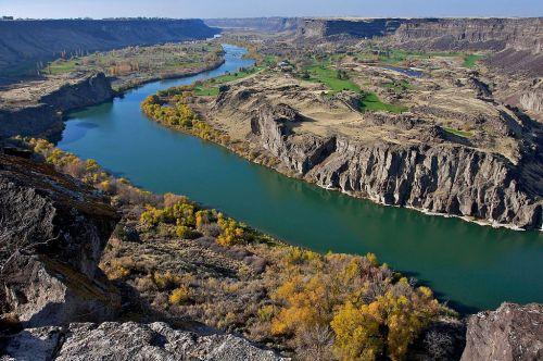 The Snake River Canyon, Idaho. Wikimedia photo