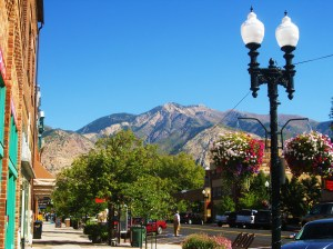 A view of Mount Ogden from Ogden's 25th Street. -- Photo by Pat Bean