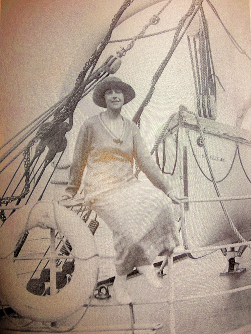 Agatha Christie on her world tour in 1922.