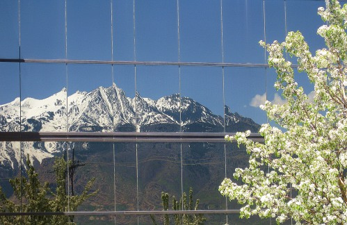 The Standard-Examine's new building, where I spent the final years as a journalist, reflects the surrounding mountains that I so loved. -- Photo by Pat Bean