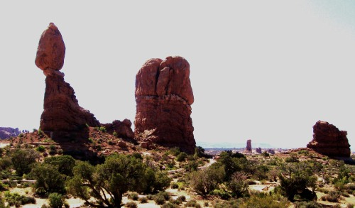 Balanced Rock, one of he more recognizable features at Arches National Park. -- Photo by Pat Bean