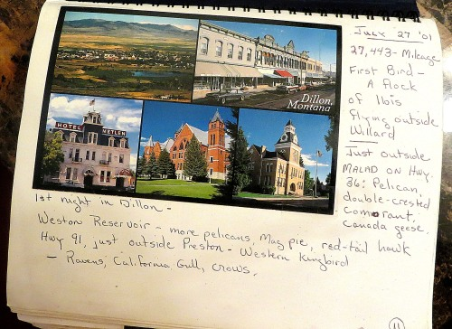 Page 1 of my Alaska trip journal.