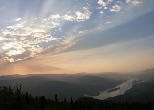 The Yukon River near Dawson City. -- Wikimedia photo