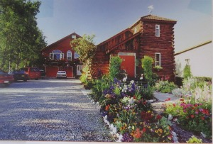 A postcard of the Anchorage bed and breakfast where I stayed for two days.