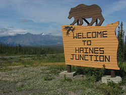 Haines Junction welcome,