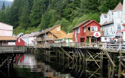 Creek Street in downtown Ketchikan. -- Wikimedia photo
