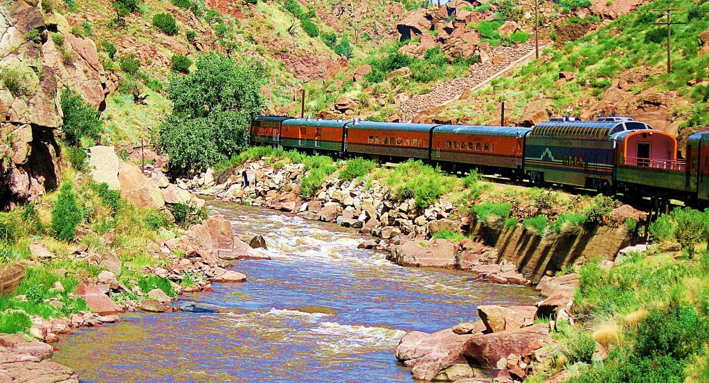 During my traveling days, I did manage a few train trips, like the one to the top of Colorado's Royal Gorge. I took this photo as the train curved around a bend while on the train itself. -- Photo by Pat Bean